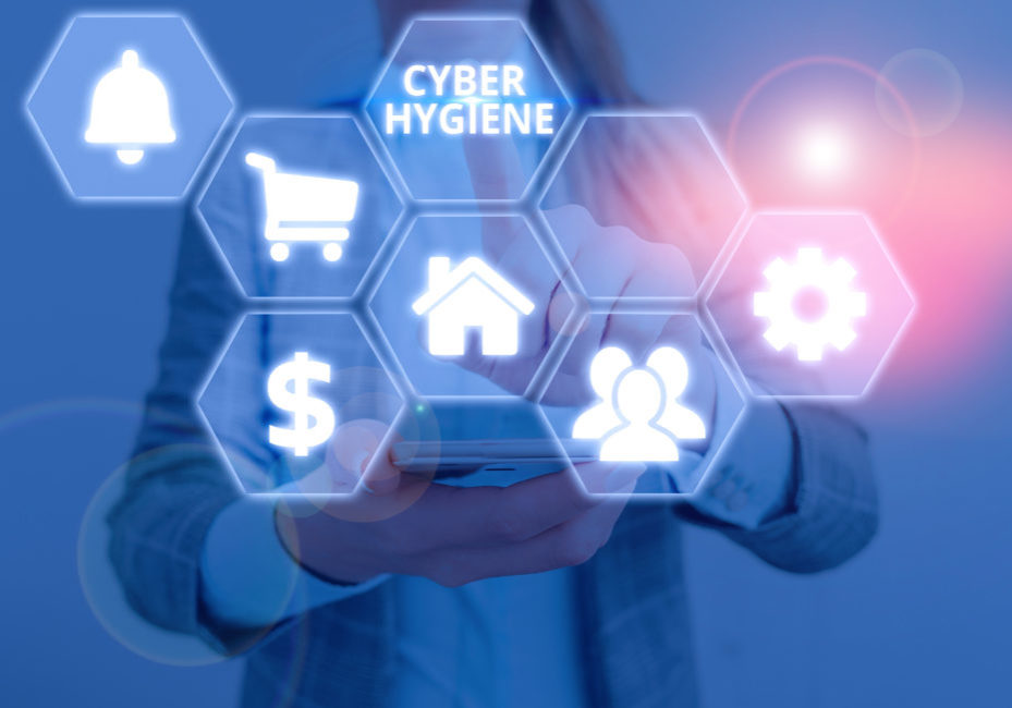 Text sign showing Cyber Hygiene. Business photo text steps that computer users take to improve their cyber security